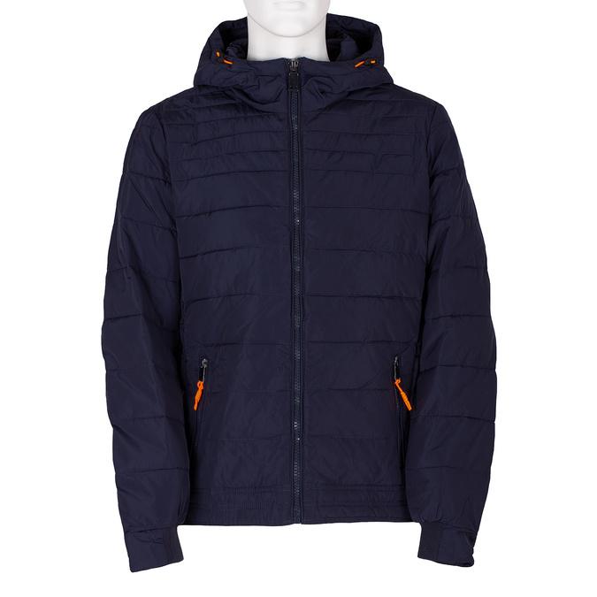 Modrá prešívaná bunda s oranžovými detailami bata, modrá, 979-9430 - 13
