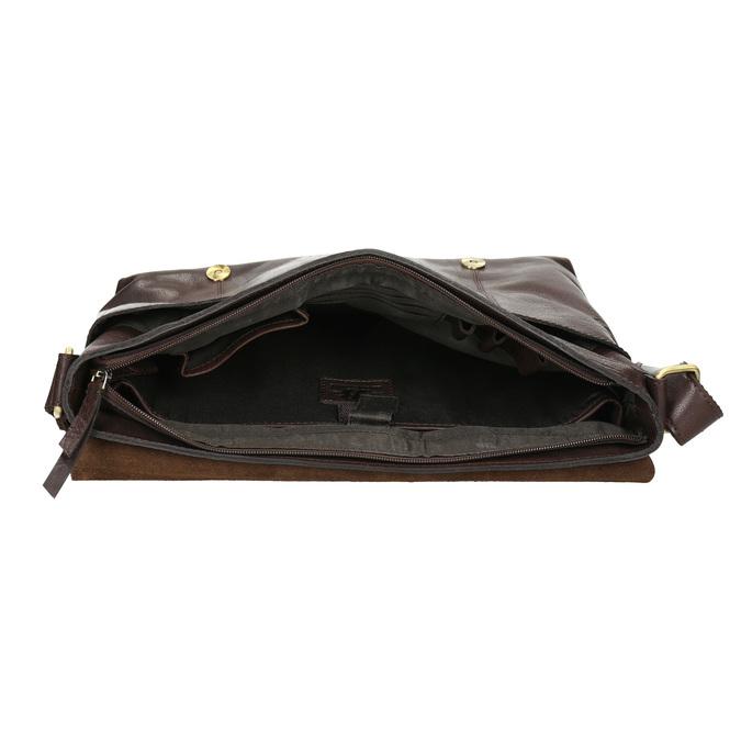 Kožená pánska taška bata, hnedá, 964-4235 - 15