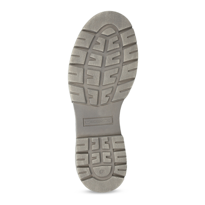 Kožená dámska vysoká obuv weinbrenner, šedá, 596-2746 - 18