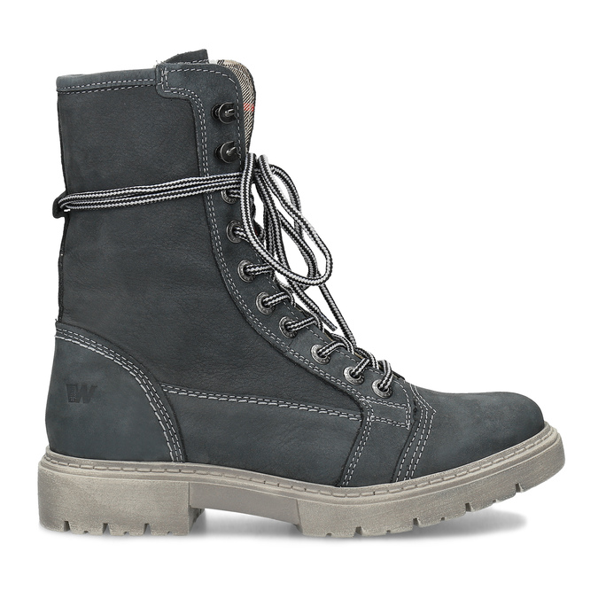 Kožená dámska vysoká obuv weinbrenner, šedá, 596-2746 - 19