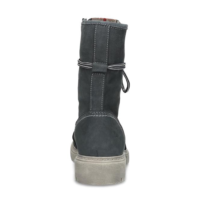 Kožená dámska vysoká obuv weinbrenner, šedá, 596-2746 - 15