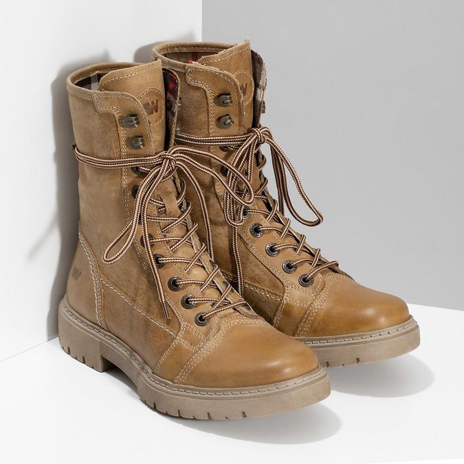 Svetlohnedá dámska kožená obuv weinbrenner, hnedá, 596-3758 - 26