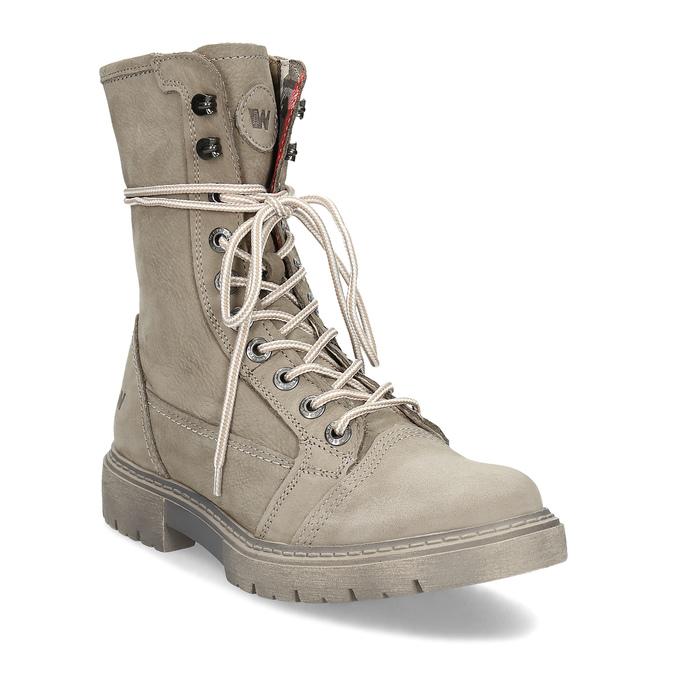 Béžová kožená dámska obuv vysoká weinbrenner, béžová, 596-8746 - 13