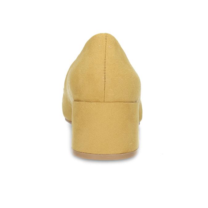 Žlté dámske lodičky na stabilnom podpätku bata-red-label, žltá, 629-8655 - 15