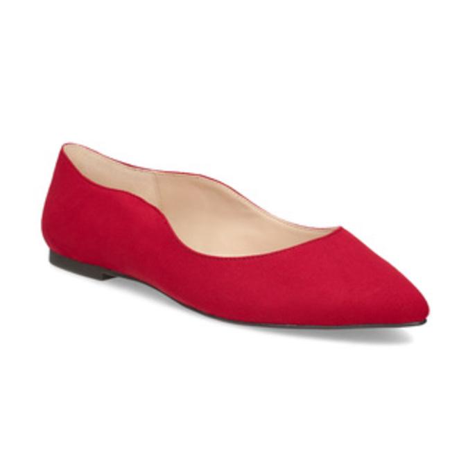 Červené dámske baleríny bata-red-label, červená, 529-5644 - 13
