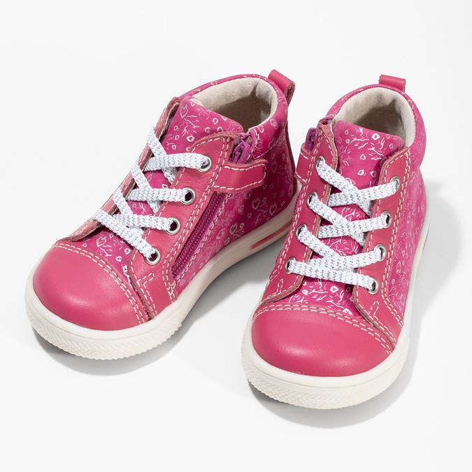 Ružové detské členkové tenisky s potlačou bubblegummers, ružová, 124-5637 - 16