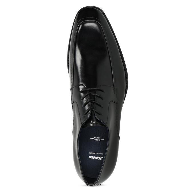 Kožené čierne derby poltopánky bata, čierna, 824-6837 - 17