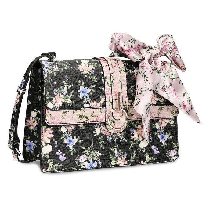 006a6856f Dámska crossbody kabelka s kvetinovým vzorom bata-red-label, viacfarebné,  961-