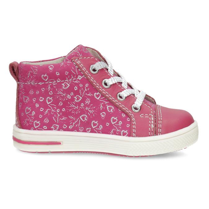 Ružové detské členkové tenisky s potlačou bubblegummers, ružová, 124-5637 - 19