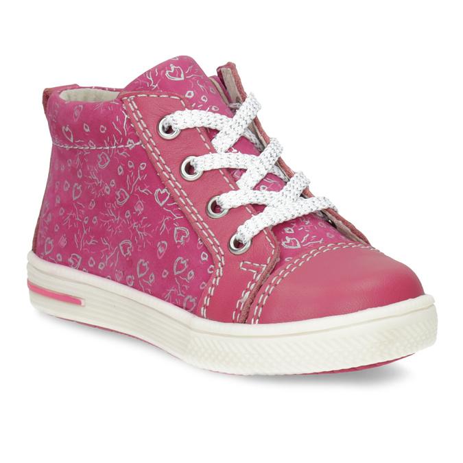 Ružové detské členkové tenisky s potlačou bubblegummers, ružová, 124-5637 - 13