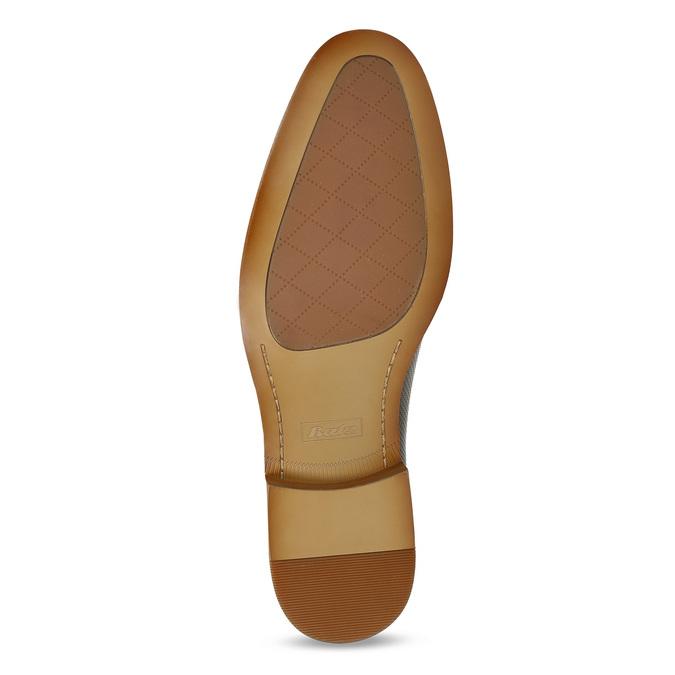 Kožené hnedé Oxford poltopánky s perforáciou bata, hnedá, 826-2834 - 18