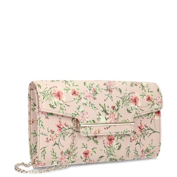 Listová kabelka s kvetinovým vzorom a retiazkou bata-red-label, viacfarebné, 961-0943 - 13