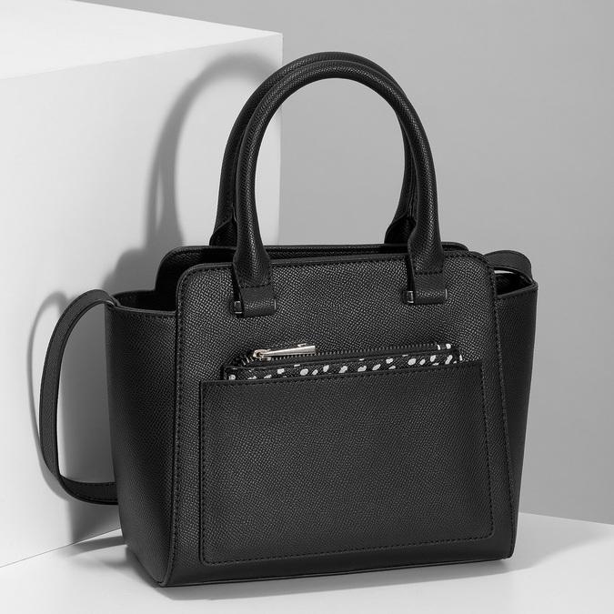 Čierna kabelka s vreckom s bodkami bata-red-label, čierna, 961-6946 - 17