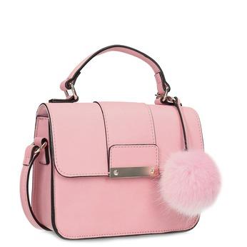 Ružová dámska kabelka s príveskom bata-red-label, ružová, 961-5942 - 13