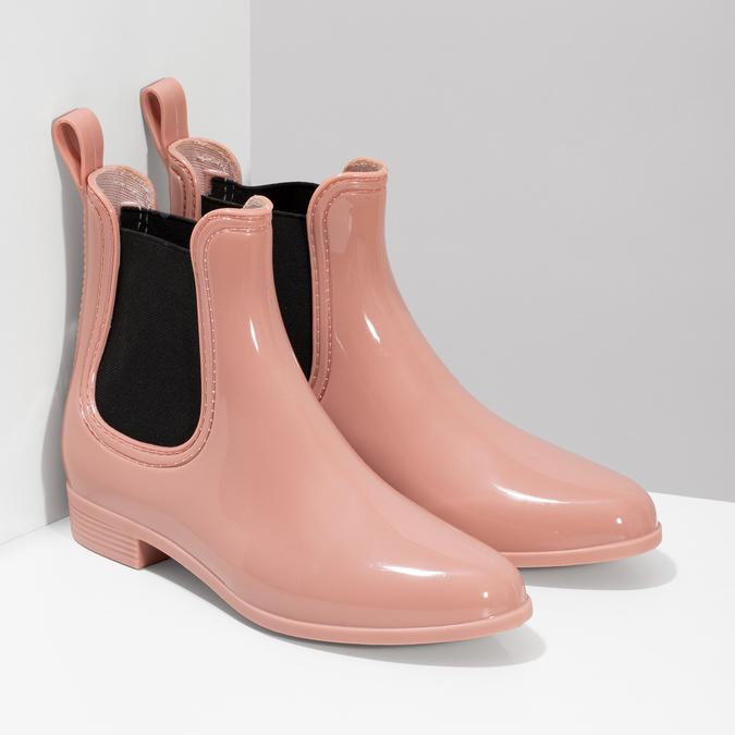 Béžové Chelsea členkové gumáky bata, ružová, 592-5610 - 26