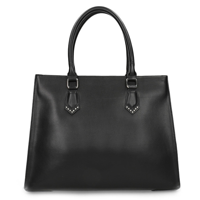Čierna kabelka s kovovými cvočkami bata, čierna, 961-6962 - 16