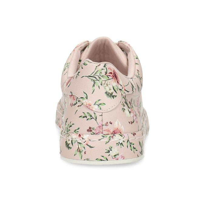 Kvetované dámske tenisky ružové bata-red-label, ružová, 541-5606 - 15
