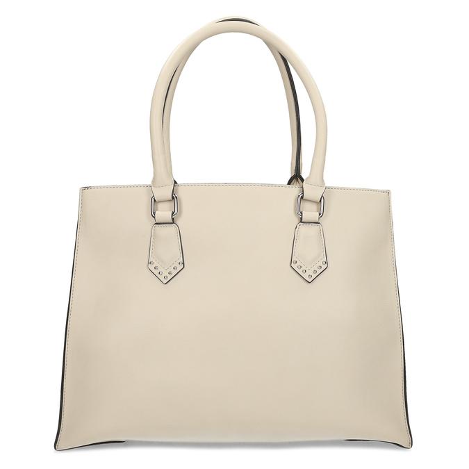 Dámska béžová kabelka s kovovými cvočkami bata, béžová, 961-8962 - 16