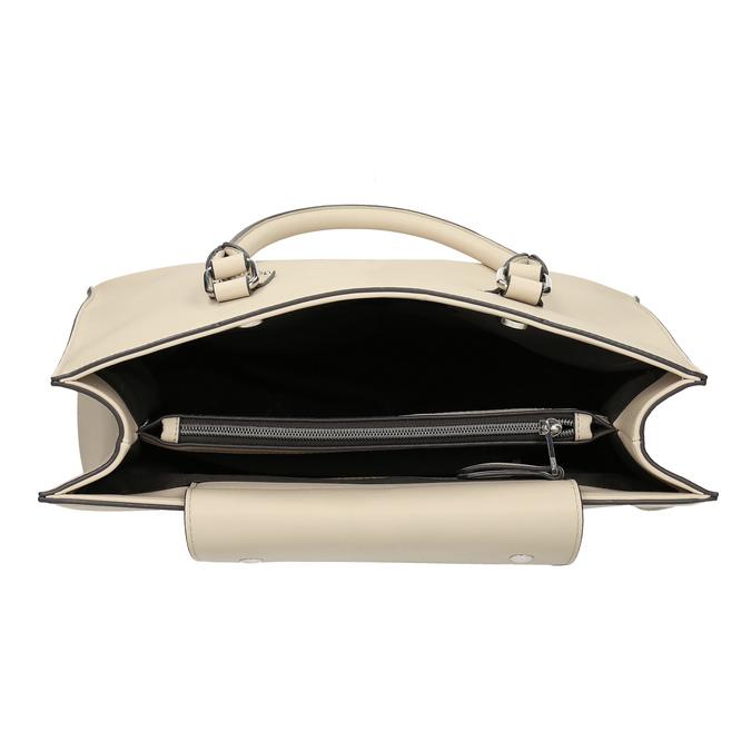 Dámska béžová kabelka s kovovými cvočkami bata, béžová, 961-8962 - 15
