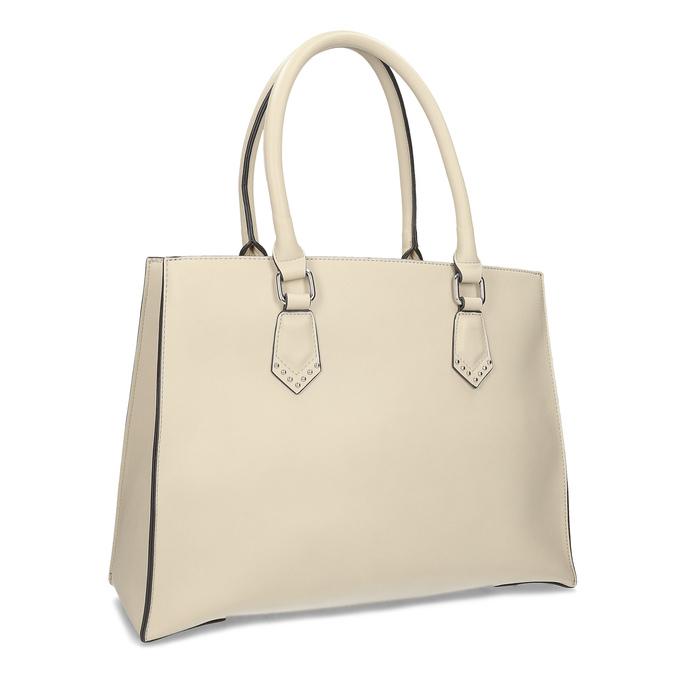 Dámska béžová kabelka s kovovými cvočkami bata, béžová, 961-8962 - 13