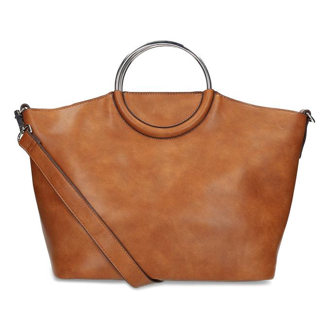 Hnedá dámska kabelka s kovovými rúčkami bata, hnedá, 961-3934 - 16