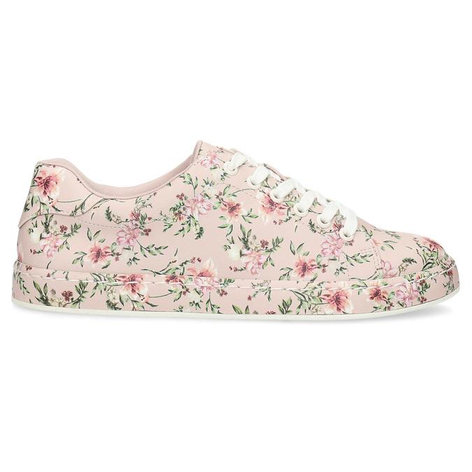 Kvetované dámske tenisky ružové bata-red-label, ružová, 541-5606 - 19