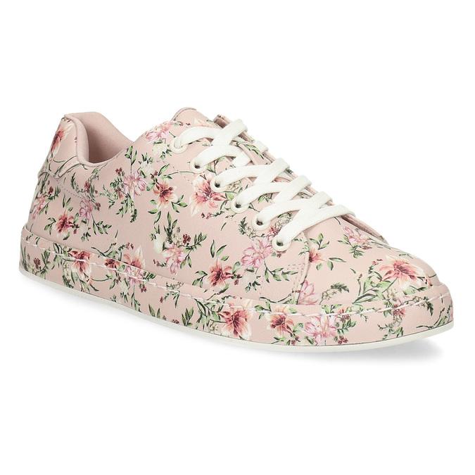 Kvetované dámske tenisky ružové bata-red-label, ružová, 541-5606 - 13