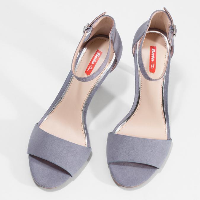 Modré dámske sandále na ihličkovom podpätku bata-red-label, modrá, 769-9626 - 16