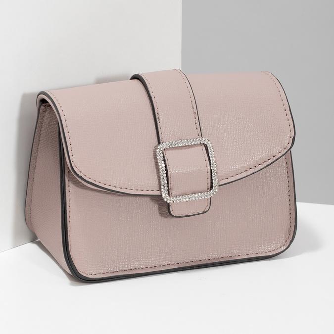 Béžová Crossbody kabelka s ozdobnou sponou bata, béžová, 961-5955 - 17