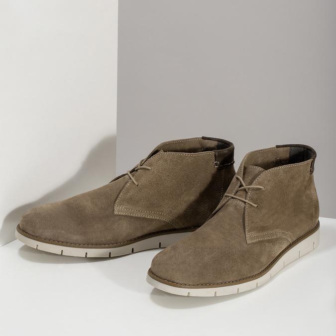 Kožená hnedá pánska Desert Boots obuv flexible, hnedá, 823-8636 - 16