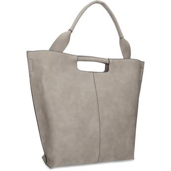 Dámska šedá kabelka s prešitím bata-red-label, šedá, 961-2958 - 13
