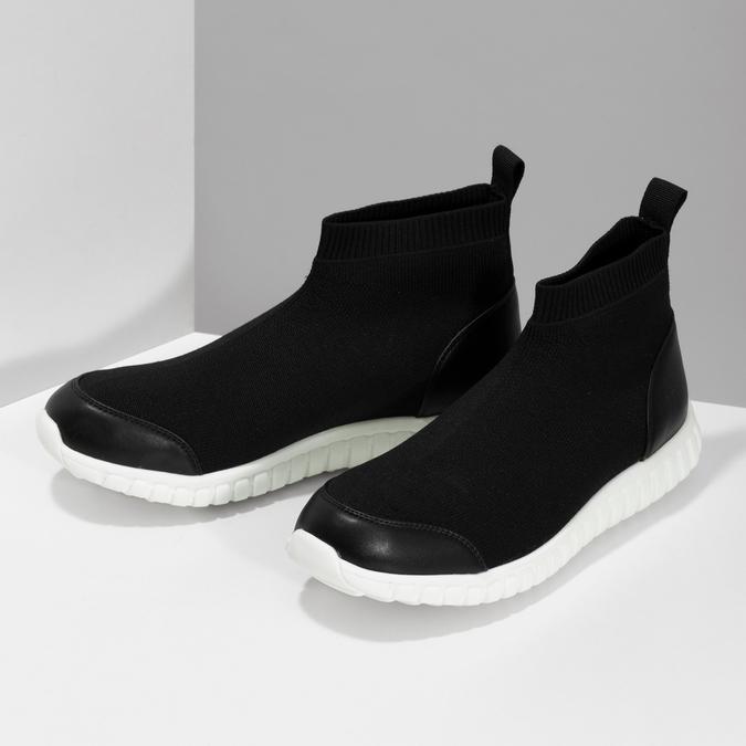 Členková dámska čierna obuv bata-red-label, čierna, 599-6627 - 16