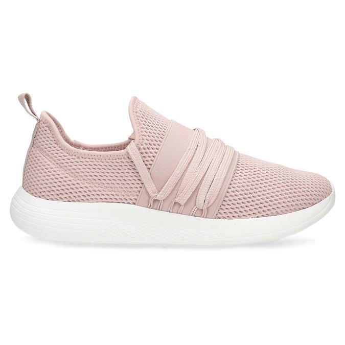 Ružové dámske tenisky na bielej podrážke bata-red-label, ružová, 519-5607 - 19