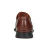 Pánske kožené hnedé poltopánky s prešitím fluchos, hnedá, 824-4543 - 15