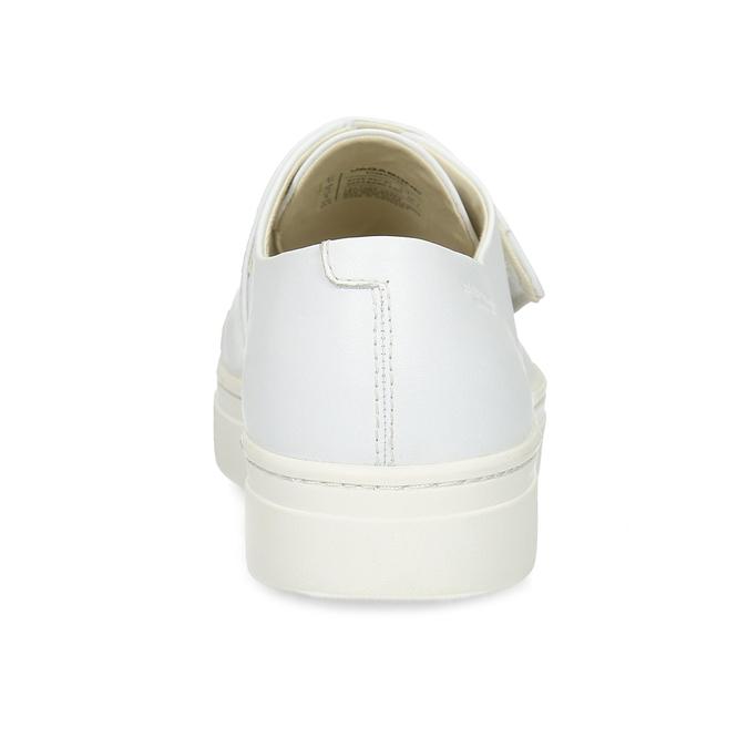 Biele kožené dámske tenisky so suchým zipsom vagabond, biela, 616-1080 - 15