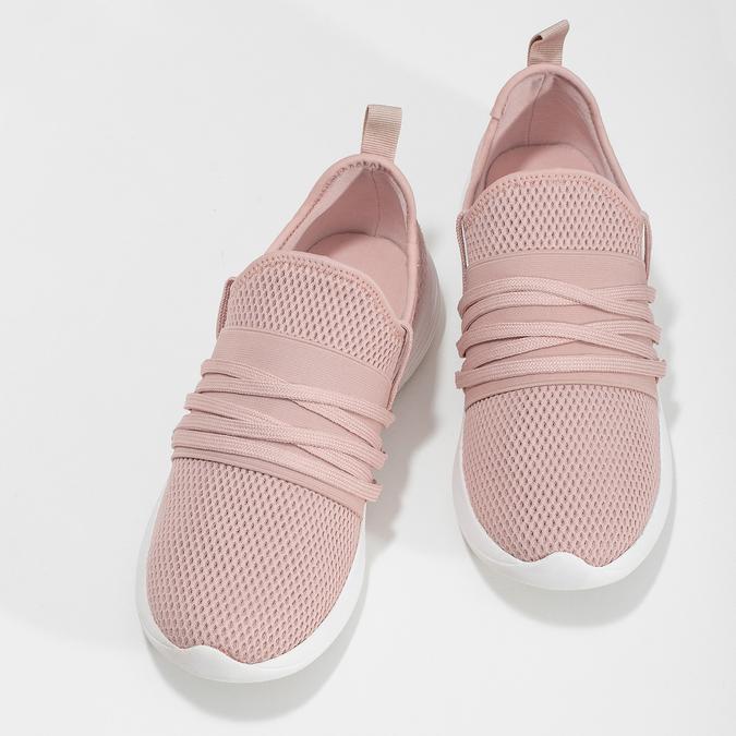 Ružové dámske tenisky na bielej podrážke bata-red-label, ružová, 519-5607 - 16
