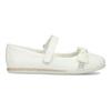 Biele detské baleríny s mašľou a kamienkami mini-b, biela, 221-1105 - 19
