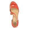 Korálové dámske sandále s asymetrickým remienkom insolia, červená, 761-5600 - 17