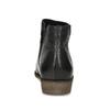 Čierne kožené členkové čižmy bata, čierna, 526-6666 - 15