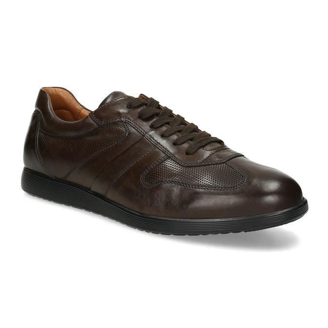 Kožené hnedé pánske tenisky bata, hnedá, 826-4686 - 13