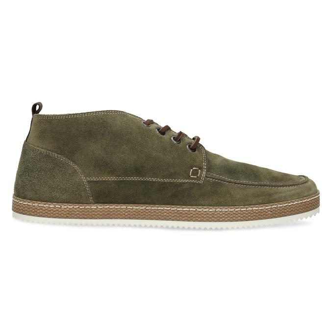 Členková pánska obuv z brúsenej kože bata, zelená, 823-7605 - 19