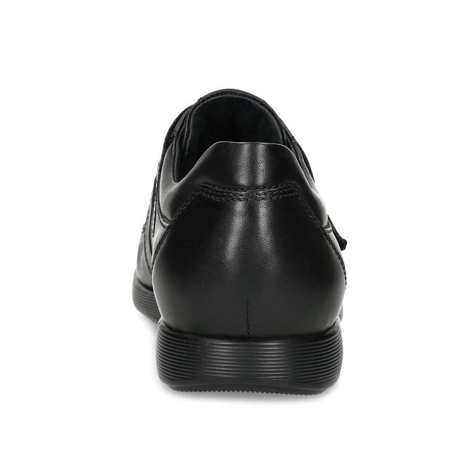 Pánska kožená obuv na suchý zips bata, čierna, 824-6666 - 15