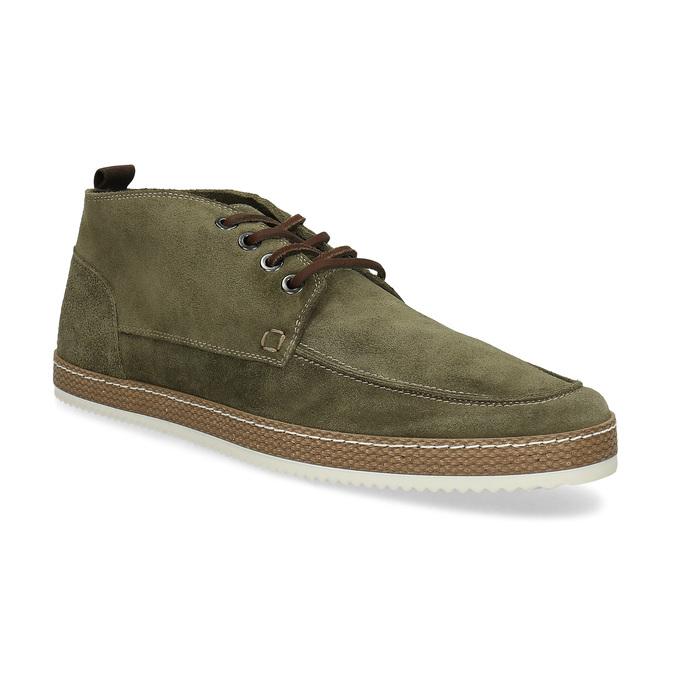 Členková pánska obuv z brúsenej kože bata, zelená, 823-7605 - 13
