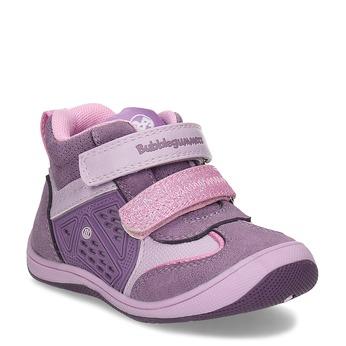 Ružové detské členkové tenisky bubble-breathe, fialová, 121-0702 - 13