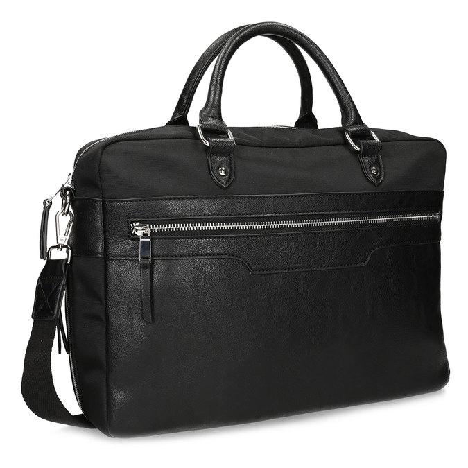 Pánska čierna taška s popruhom bata, čierna, 969-6950 - 13