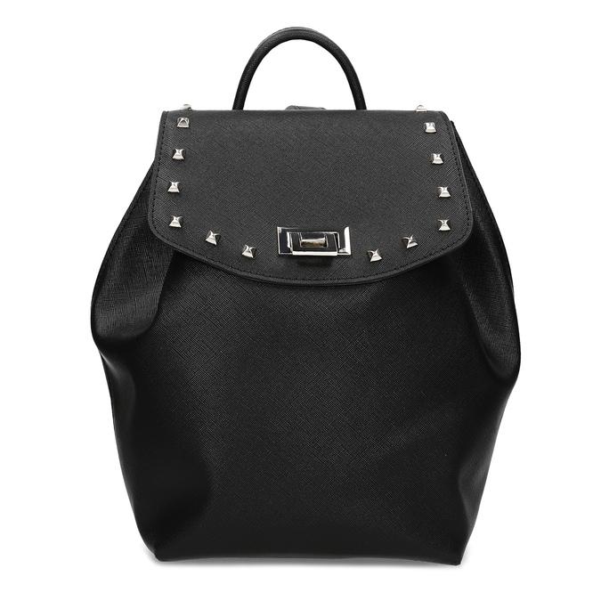 Čierny dámsky batoh s kovovými cvočkami bata, čierna, 961-6940 - 26