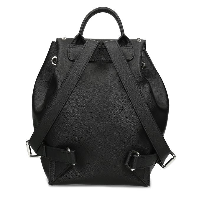 Čierny dámsky batoh s kovovými cvočkami bata, čierna, 961-6940 - 16