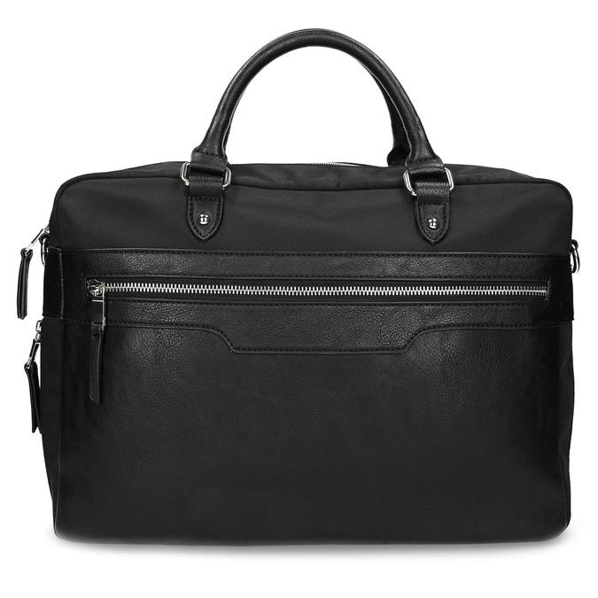 Pánska čierna taška s popruhom bata, čierna, 969-6950 - 26