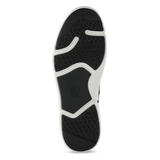 Pánske šedé kožené tenisky s perforáciou bata-light, šedá, 846-2722 - 18