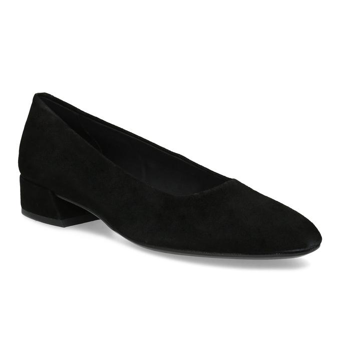 Dámske čierne lodičky z brúsenej kože vagabond, čierna, 623-6097 - 13